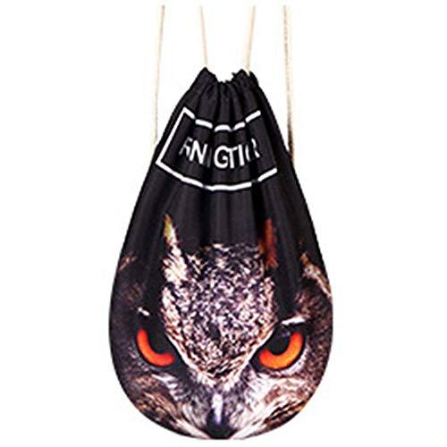 Stijlvolle Patroon van de Uil Pull Rope Backpack Uitgebreid Material Ademende Yoga Bag Geschikt for fitness Shopping / 44 x 36cm Veelzijdige Mooie en praktische sporttas.