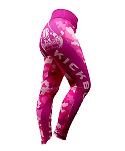 Calça de Compressão Termica Legging Feminina - 2824 RO - Rosa - GG - Kick Boxing