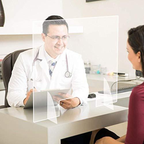 Ventana estornudo guarda protectora for el contador con el comercio de previenen el estornudo Tos en lugares públicos for aislar virus for oficina y (Color : -, Size : -)
