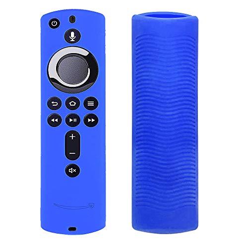 Silikon-Schutzhülle für TV Firestick 4K / TV (3. Generation), kompatibel mit Fernbedienung der 2. Generation blau