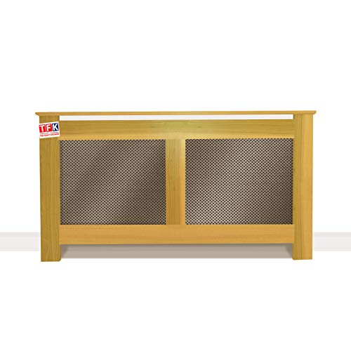 "Poplar Wood Radiator Cover with Metal Sheet, 26"" Tall x 48"" Wide - Custom Size for Carpenters - TFK-RAD-MDW2"