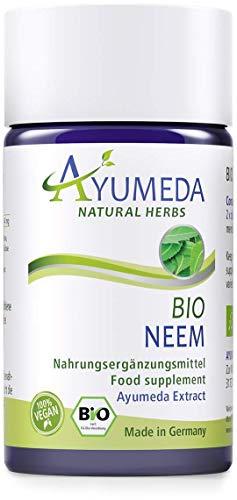 Ayumeda BIO Neem Extrakt   Azadirachta indica  Arishtaka   Neembaum   Niem   132,3 mg Bitterstoffe je Tagesdosis   Geprüfte Qualität   Made in Germany   60 Kapseln für 1 Monat   100% BIO   100% Vegan