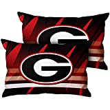 University Team Decorative Throw Pillow Covers Soft Pillowcase for Couch Sofa Bedroom Set of 2, 12'' x 20''