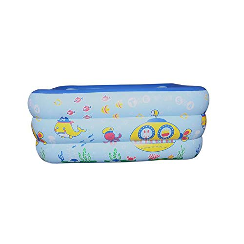 FCH Babypool Play Rectangular Pool Kinder Unabhängiger geschichteter Airbag Dreischichtiger multifunktionaler Unterhaltung Pool Blaue tragbare Schwimmbadbadewanne 130 * 85 * 55 cm