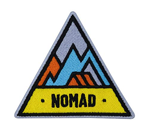 Finally Home Adventure Collection: Nomad Zelten in den Bergen Patch zum Aufbügeln | Wandern Outdoor Patches, Baum Bügelflicken, Wanderer Flicken, Aufnäher auch für Rucksäcke geeignet
