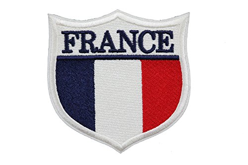 World Flags Embroidered Patch Shield (3 x 3) European Edition. Custom Flags of Countries in Europe. 100% Made in USA (France)