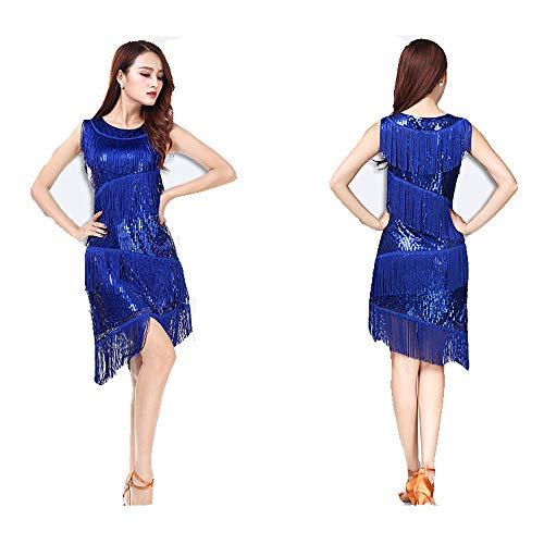 Jtoony damesjurk, dansjurk, voor dames, pailletten, franjes, Gala, Ball, Samba, Tango, Latein, kostuums, grote avondjurk, Gatsby
