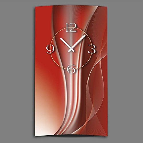 DIXTIME Horloge murale design abstrait 3DS-0019 - Design moderne - Silencieuse - Pas de tic-tac - Rouge cuivré