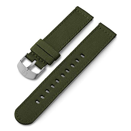 Timex 20mm Fabric Strap – Green with Silver-Tone Buckle