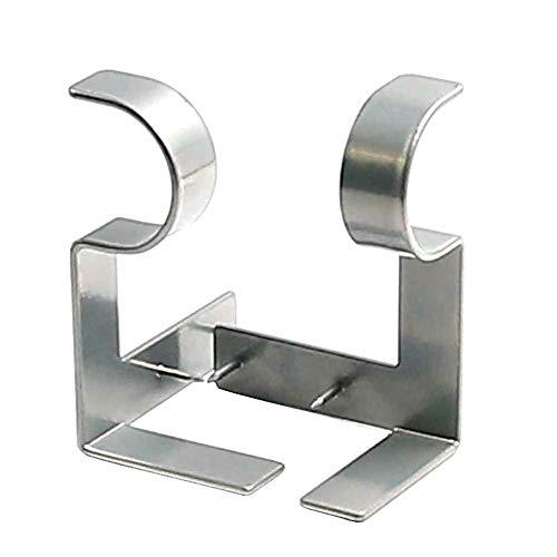 Ysimee 2-teiliges Set Gardinenstangen Halterungen, Metall Gardinenstange Klammer, StützeHalterung, Vorhangstangen Drapery Halterung für Gardinenstangen - Silber