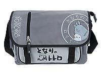 Totoro Umhängetasche Aus robustem Nylongewebe Mit 3 Innenfächern und zwei Reißverschlußtaschen Maße: ca. 40x27x8cm (BxHxT) Abdeckung lässt sich mit Schnellverschlüßen und Reißverschluß verschließen