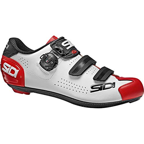 Sidi Alba 2 Schuhe Herren White/Black/red Schuhgröße EU 40 2021 Rad-Schuhe Radsport-Schuhe