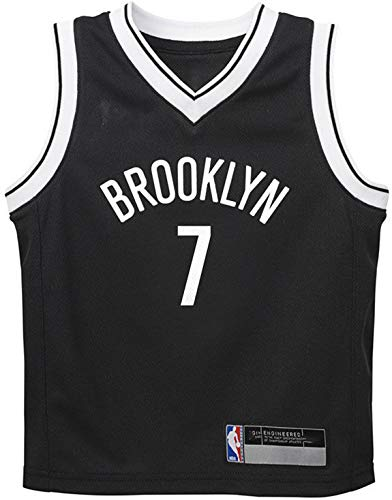 Outerstuff NBA Infants Toddler Official Name and Number Replica Home Alternate Road Player Jersey (3T, Kevin Durant Brooklyn Nets Black Icon Edition)