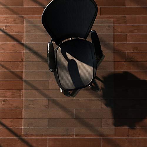 MorNon Frosted Antideslizante Silla De Oficina Alfombrilla De Escritorio Protector De Alfombra De Piso PVC Transparente Alfombrilla para Silla De Oficina 120Cm X 90Cm Convencional