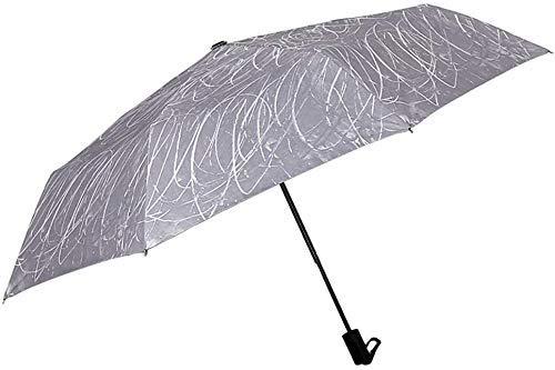 BAIYAN Paraguas, Fácil de Transportar Paraguas Plegables UV Viaje Sol Paraguas Ligero Auto Abierto Cerrar Vent de ventilación Ventajas Resistente al Viento Paraguas Portable Paraguas