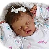 iCradle Black Realistic Reborn Baby Dolls Girls 18 Inch African American Lifelike Sleeping Newborn Baby Doll Gift Set