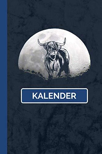 Kalender: Highland Cattle Rinder Kuh I Weißes Papier I A5 Format I [Undatiert] Jahresplaner I Tiermotiv Geschenk