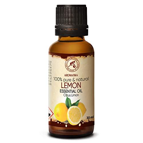 Aceite Esencial Limon 30ml - Citrus Limon Sin Diluir - Italia - 100% Natural & Puro para Aliviar la Tensión - Buen Sueño - Mejor para Humidificador - Aromaterapia - Relajación