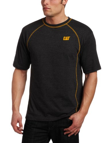 Caterpillar Men's Performance Short Sleeve T-Shirt (Regular and Big & Tall Sizes), Charcoal Heather Grey, Medium