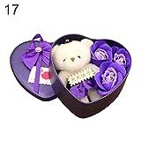 GREENLANS Seifenblume Geschenkbox, 1 Satz Kunstseife Rose Blume Bär Puppe Valentinstag Geschenkbox...
