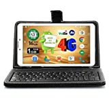 Ikall N4 Tablet with Keyboard (7 inch, 8GB, WiFi + Voice Calling), White