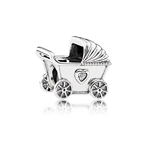 Pandora 792102CZ Charm Damen Kinderwagen Sterling Silber