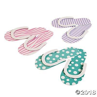 Spa Party Flip flops - 12 pair