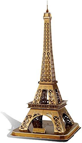 GuDoQi 3D Puzzle für Jungen Mädchen Erwachsene, Eiffelturm Jigsaw Puzzle, Architecture Modell Bausatz zum Bauen, Familienspiele für Kleine Kinder und Eltern, DIY Montage Spielzeug Geschenk