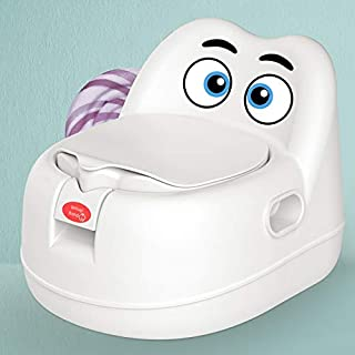 Colorful Children toilet boy baby girl potty baby child urinal child toilet seat training baby toilet seat (Color : White)