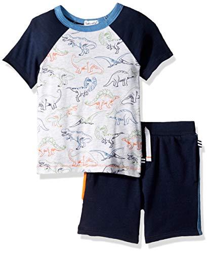 Splendid Dinosaur Print tee Set Juego de Camisetas, Gris Jaspeado Helado, 6-12 Meses para Niños