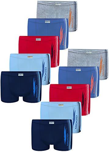LOREZA ® 10 Pack Jungen Boxershorts aus Baumwolle Unterhosen (152-158 (12-13Jahre), Modell 1 )