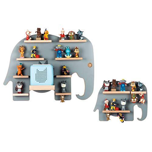 BOARTI das Original Kinder Regal Elefanten Duo in Grau - geeignet für die Toniebox und ca. 59 Tonies - zum Spielen und Sammeln