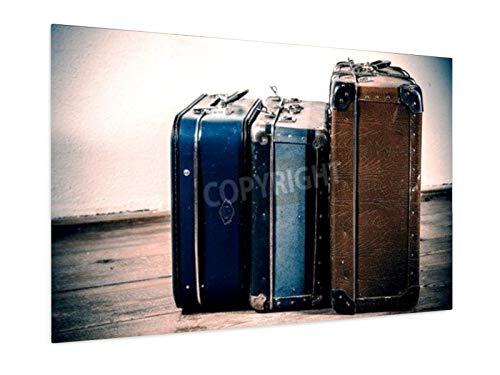weewado Jaromir Urbanek - Beautiful old blue and brown suitcases 11,81' x 7,87' inch (30x20 cm) Poster artists, paintings, photo, Image as Poster City Trip & Travel