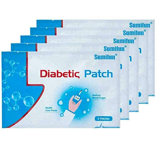 30 Pieces Diabetic Patches, 6 Pieces/Bag Natural Herbal Healing Blood Sugar Reduction Medical Plasters,Keeping Blood Sugar Balance High Blood Sugar Sticker - 5 Pack