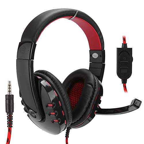 ANGGREK On-Ear Noise Reduction Headphones HI‑0990‑DCH Gaming Headset Wired Over The Ear Headphones Stereo with LED Microphone