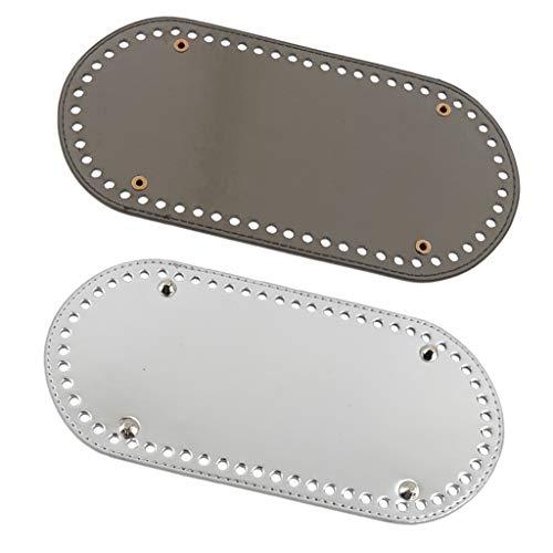P Prettyia 2er Set Einlegeboden Baseshaper Bag Shaper Taschenboden mit 60 Löcher 4 Nägel (Silber + Grau)
