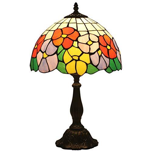Lámpara de escritorio LED Lámparas de leer Bedroom Eyes El cuidado simple gloria de mañana lámpara de mesa retro europeo creativo del vitral Sala Comedor lámpara de cabecera lámpara de escritorio flex