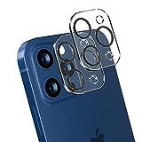 JPudinor Protector de objetivo de cámara para iPhone 12 Pro (6,1 pulgadas), dureza 9H, cristal templado, antiarañazos, ultrafino, alta definición, antihuellas, 2 unidades