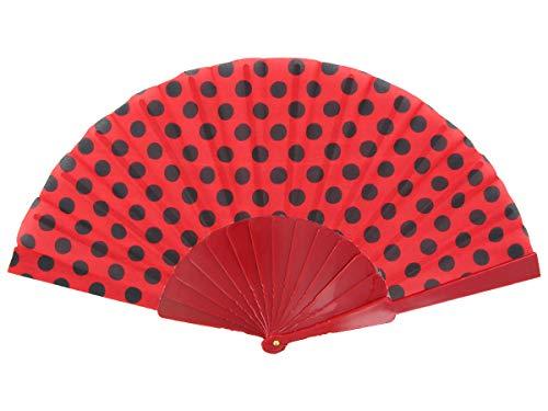 Alsino Éventail accessoire danse flamenco, choisir:FAE-15 rouge noir