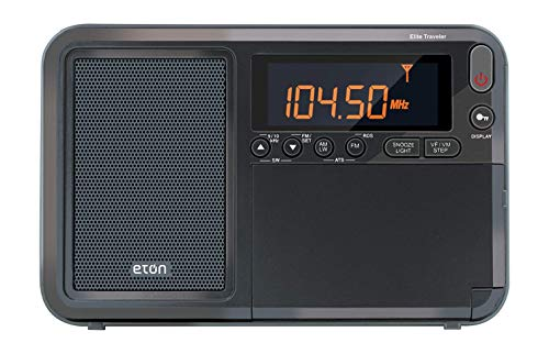 Eton Elite Traveler AM FM LW Shortwave Radio with RDS & Custom Leather Carry Cover