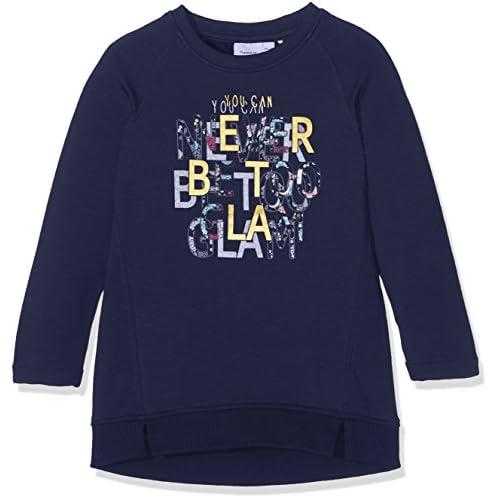 Name It Nitdiolo LS SWE Tunic Bru F Mini Maglia a Maniche Lunghe, Rosa (Dress Blues), 110 Bambina