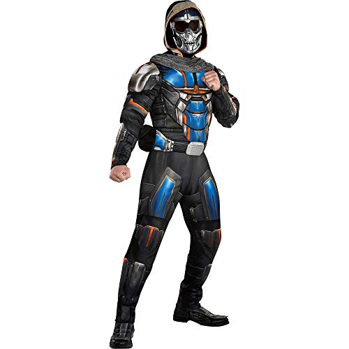 Party City Taskmaster Halloween Costume for Men, Marvel's Black Widow, Standard Size, with Jumpsuit, Mask, Scarf, Belt