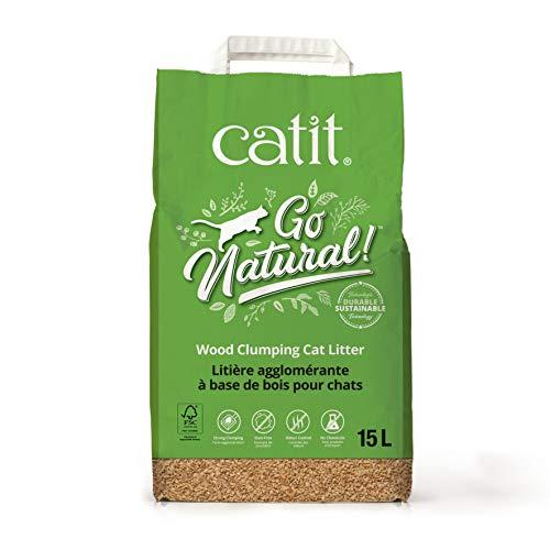 Catit ¡Vaya natural! arena aglomerante de madera para gatos, 1 x 15 litros