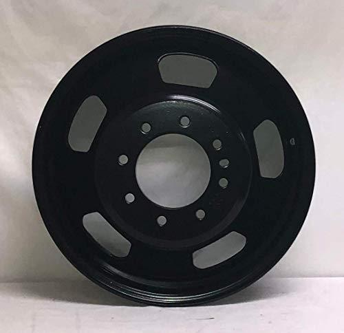 New 17 Inch 8 lug Black Steel Dual Wheel Fits Dodge Ram 3500 WE1912N