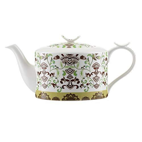 """Jameson & Tailor Modern Teekanne Kaffeekanne""""Bohemien"""" Brillant-Porzellan 1100ml Füllmenge spülmaschinen- und mikrowellenfest"""
