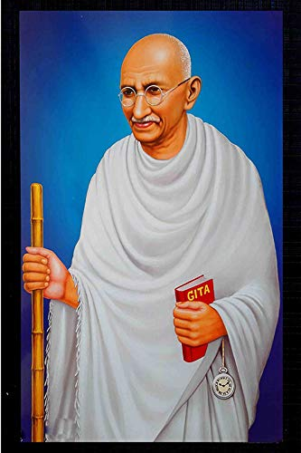 Nationalist Mahatma Gandhi Ji Sticker Poster Poster for Wall  Decoration Famous People Poster Interior Poster for  Schools/Institues/Hostels/Living Room Self Adhesive Sticker Wall Poster :  Amazon.in: Home & Kitchen
