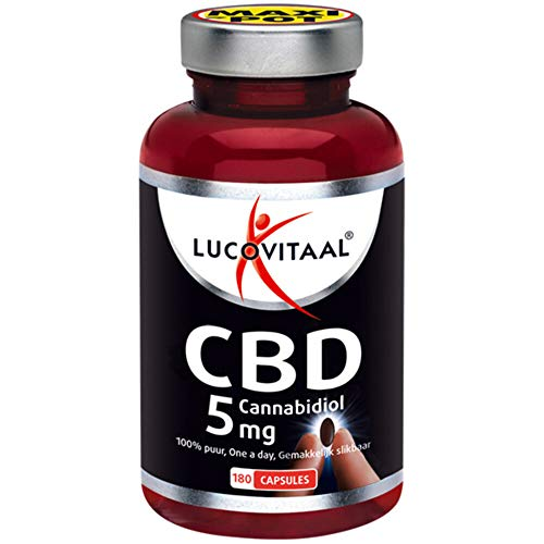 Lucovitaal Cannabidiol Cbd 5 Mg, 180 Stuk, Capsules