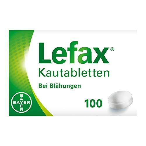 Lefax Kautabletten bei leichten Blähungen, Druck- und Spannungsgefühl im Bauch, für die ganze Familie, Kinder ab 6 Jahren, 100 Stück