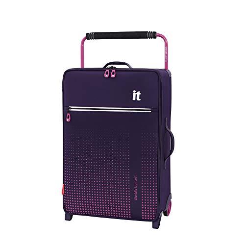 it luggage World'S Lightest Vitalize 2 Wheel Super Lightweight Suitcase Medium Maleta, 70 cm, 59 Liters, Morado (Purple)