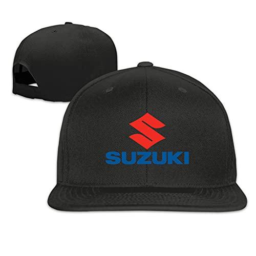 Suzuki Moto Logo Gorras de béisbolUnisex Clásico Ajustable Snapback Sombreros Hip-Hop Flat Bill Gorras De Béisbol Baseball Caps